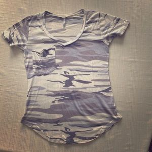 Z Supply Blue camo T-shirt